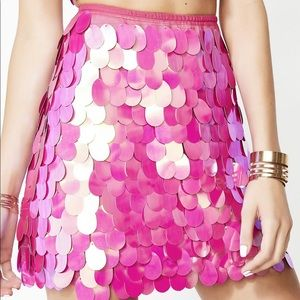NEW WITH TAGS Pink Sequin Mini Skirt